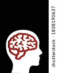 silhouette of human head on a... | Shutterstock .eps vector #1838190637
