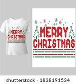 merry christmas shirt ...   Shutterstock .eps vector #1838191534