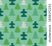 seamless pattern with stylized...   Shutterstock .eps vector #1838192251