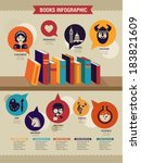 book,bookshelf,bookstore,chart,demographics,design,education,element,encyclopedia,graph,graphic,growth,icon,illustration,infochart