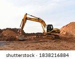 Track Type Excavator During...