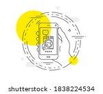 spanner tool line icon. mobile...   Shutterstock .eps vector #1838224534