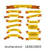 set of stickers  labels  tags | Shutterstock .eps vector #183823805
