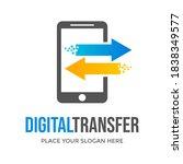 digital transfer vector logo... | Shutterstock .eps vector #1838349577