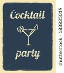 cocktail party invitation... | Shutterstock .eps vector #183835019