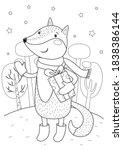 Christmas Fox With Gift Box....