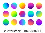 circle colorful gradient icons. ...