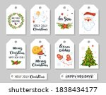 christmas gift tags with cute...   Shutterstock .eps vector #1838434177