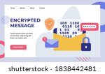 encryption message password... | Shutterstock .eps vector #1838442481
