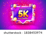 thank you followers peoples  5k ... | Shutterstock .eps vector #1838453974