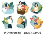 healthy lifestyle and sportive... | Shutterstock .eps vector #1838463901