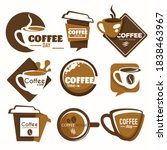 hot drink cup coffee shop or... | Shutterstock .eps vector #1838463967