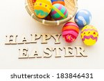 colourful painted easter egg... | Shutterstock . vector #183846431