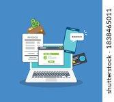 online payment concept. laptop...   Shutterstock .eps vector #1838465011