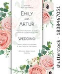 vector floral chic wedding... | Shutterstock .eps vector #1838467051