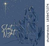 silent night holy night... | Shutterstock .eps vector #1838471374