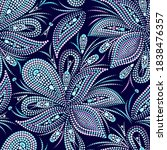 Dotted Blue Pattern With...