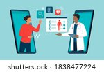 online doctor and telemedicine  ... | Shutterstock .eps vector #1838477224