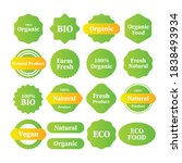 labels and emblems organic ... | Shutterstock .eps vector #1838493934