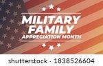 military family appreciation... | Shutterstock .eps vector #1838526604
