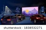 Open Air Cinema For Street Car. ...
