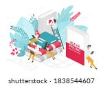 people learning polish... | Shutterstock .eps vector #1838544607