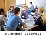 high school students in class... | Shutterstock . vector #183854621