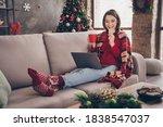 Photo Of Cute Lady Sit Sofa...