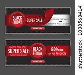 black friday sale horizontal...   Shutterstock .eps vector #1838563414