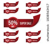 a set of sale banners. abstract ... | Shutterstock .eps vector #1838563417