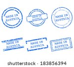 made in austria stamps | Shutterstock .eps vector #183856394