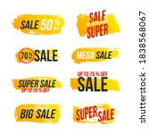 mega sale  creative flyer. big... | Shutterstock .eps vector #1838568067