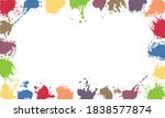 frame with color blobs  used... | Shutterstock .eps vector #1838577874