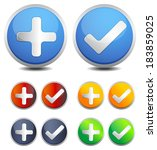 button set   illustration | Shutterstock .eps vector #183859025