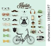 hipster design set | Shutterstock .eps vector #183861197