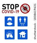 stop covid 19 coronavirus...   Shutterstock .eps vector #1838619631