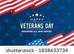 veterans day vector... | Shutterstock .eps vector #1838633734