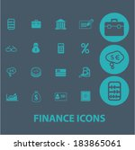 finance flat icons set  for...