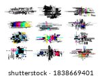set of digital decay elements.... | Shutterstock .eps vector #1838669401
