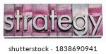 strategy word abstract in... | Shutterstock . vector #1838690941