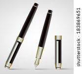 fountain pen | Shutterstock .eps vector #183869651
