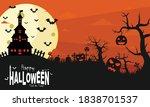 halloween illustration yellow...   Shutterstock .eps vector #1838701537