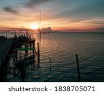 Silhouette Of A Fisherman Boats ...