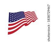 flag american vector icon... | Shutterstock .eps vector #1838729467