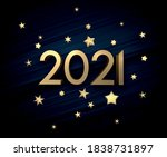 golden 2021 sign with gold...   Shutterstock .eps vector #1838731897