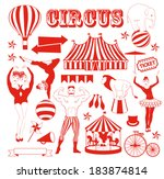 circus stars pattern | Shutterstock .eps vector #183874814