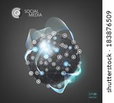 abstract social media network.... | Shutterstock .eps vector #183876509