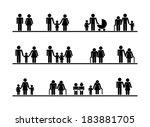 family design over white... | Shutterstock .eps vector #183881705