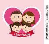 family design over pink... | Shutterstock .eps vector #183882401
