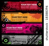 grunge stylish banners with... | Shutterstock .eps vector #18388396